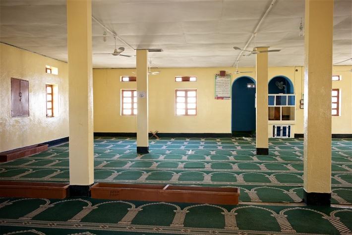 مسجد شيخة الوقيان في بوراما من الداخل